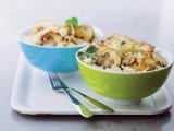 Kip en volle rijst met champignons