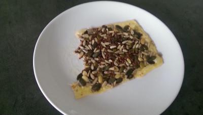 Cracker van kaas met ptten en zakden