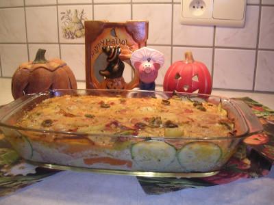 Creepy Halloween ovenschotel